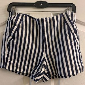 Banana Republic blue & white high-waisted shorts